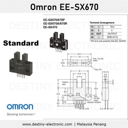 Omron Photomicrosensor, 5mm Detection Range, EE-SX670 series [13212690-13212718]