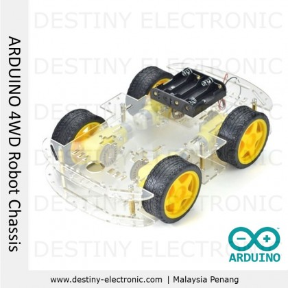 Arduino Uno R3 Tracking and Obstacle Avoidance Smart Robot Chassis (4WD) [1074112J]